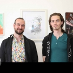 Pictured at the showcase of Ireland's Second Cystic Fibrosis Art Exhibition in the CB1 Gallery are Jason Callan and Toby Shane. Picture: Conor Owens/ilovelimerick.