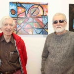 Pictured at the showcase of Ireland's Second Cystic Fibrosis Art Exhibition in the CB1 Gallery are Keith Fawcett and Jack Little. Picture: Conor Owens/ilovelimerick.