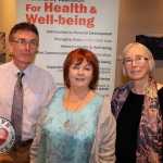 The Social and Health Education Project - SHEP Midwest celebrated ten continuous years of training in Limerick at the Absolute Hotel. Pictured are Liam McCarthy, SHEP Community Development, Anita O'Shea, SHEP Limerick Chairperson, Mary Mangan, SHEP Personal Development. Picture: Orla McLaughlin/ilovelimerick