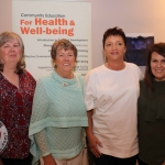 The Social and Health Education Project - SHEP Midwest celebrated ten continuous years of training in Limerick. Pictured at the Absolute Hotel are Georgina McMahon, Knockaderry, Ann Quaid, Athea, Margo Mc Inerney and Marilyn Lawlor, Rhebogue. Picture: Orla McLaughlin/ilovelimerick