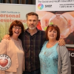 The Social and Health Education Project - SHEP Midwest celebrated ten continuous years of training in Limerick. Pictured at the Absolute Hotel are Cora Daly, Limerick Clare Education Training Board Youth Officer, Richard Lynch, I Love Limerick and Anita O'Shea, SHEP Chairperson. Picture: Orla McLaughlin/ilovelimerick