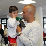 At the Simon Zebo Mayoral reception Simon Zebo and son Jacob. Picture: Zoe Conway/ilovelimerick.