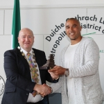 At the Simon Zebo Mayoral reception Mayor Sean Lynch and Simon Zebo. Picture: Zoe Conway/ilovelimerick.
