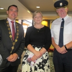 Cllr. James Collins, Mayor of Limerick City and County, Mary Quinlan, Crecora and Gerry Roach, Chief Superindendent at the launch of the St. Gabriel's Children's Respite House in the Savoy Hotel, Limerick, Monday, July 16. Picture: Baoyan Zhang/ilovelimerick