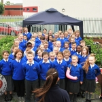 The Choir of Thomand Primary School performing at the St. Munchin's Community Allotments Party at St Munchins Community Centre, Ballynanty, Thursday, June 14th, 2018. Picture: Sophie Goodwin/ilovelimerick.