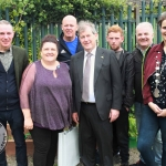 Community Development Worker Ray Murphy, CEO of St Munchins Community Centre Linda Ledger, Marlo Brien, JP McManus, Sean McCormack, Councillor John Costello and Deputy Mayor of Metropolitan District of Limerck, Vivenne Crowley at the St. Munchin's Community Allotments Party at St Munchins Community Centre, Ballynanty, Thursday, June 14th, 2018. Picture: Sophie Goodwin/ilovelimerick.