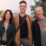 Pictured at the St Munchin's Photography Club's 'Moments in Time' Exhibition in the Belltable Arts Hub are Stephanie O'Keeffe, Sean O'Brien and George Fitzgerald. Picture: Conor Owens/ilovelimerick.