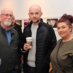 Pictured at the St Munchin's Photography Club's 'Moments in Time' Exhibition in the Belltable Arts Hub are Eddy Kiely, David Kiely and Sinead Kiely. Picture: Conor Owens/ilovelimerick.