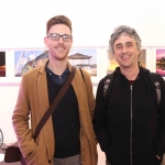 Pictured at the St Munchin's Photography Club's 'Moments in Time' Exhibition in the Belltable Arts Hub are Sean O'Brien and Rory Burke. Picture: Conor Owens/ilovelimerick.