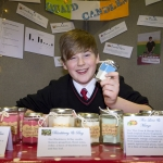 """22/03/2018 Evan Quaid from Hazelwood College pictured with his exhibit """"Quaid Candles"""" at the Limerick Local Enterprise Office, Student Enterprise Programme Final Exhibition and Awards Presentation which took place at the Southcourt Hotel, Limerick. Don Moloney / Press 22"""