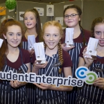 "22/03/2018 Emma O'Shea, Melanie O'Sullivan, Leanne Byrnes, Sarah Ahern and Lucy Flaherty from Desmond College, Newcastle West pictured with their exhibit ""Chocolate Dreams"" at the Limerick Local Enterprise Office, Student Enterprise Programme Final Exhibition and Awards Presentation which took place at the Southcourt Hotel, Limerick. Don Moloney / Press 22"