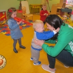 Tait House hosted a fundraiser for local group of bereaved parents, Lost Futures on September 6 at Mr.Tait\'s Cafe. Cllr Daniel Butler, Mayor of the Metropolitan District of Limerick and Roisin Upton, Limerick hockey player visited the children in the Tait House Creche. Picture: Baoyan Zhang/ilovelimerick