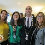 Tait House hosted a fundraiser for local group of bereaved parents, Lost Futures on September 6 at Mr.Tait's Cafe. Pictured: Simone Dillon, Tait House, Roisin Upton, Limerick hockey player, with Cllr Daniel Butler,  Mayor of the Metropolitan District of Limerick and Tracey Corbett Lynch, CEO of Tait House. Picture: Baoyan Zhang/ilovelimerick