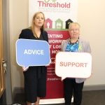 Pictured at the launch of Threshold's new Advice Clinic in Limerick Citizens Information Centre is Edel Conlon, Southern Regional Manager of Threshold and Marrion Browne, Manager of Limerick Citizens Information Centre. Picture: Conor Owens/IloveLimerick.