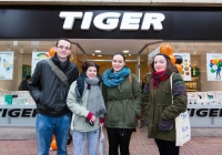 REPRO FREEMichael O'Connor, North Circular Road, Sarah Healy, Eva Byrne and Clare Staunton, Cork at the opening of the new Tiger Store on Cruises Street, Limerick.Tiger Stores, described as a variety store selling low cost high value items, ranging from €1 to maximum €30, is set to open its doors at 11 Cruises Street, Limerick, employing 12 staff. When the Danish brand announced its imminent arrival in Limerick back in December, the positive response online was phenomenal. But for Tiger Stores Ireland and Northern Ireland Operations Manager, Gillian Maxwell, who brought the brand to Ireland just three years ago, Limerick was an obvious choice for a new store. Pic Sean Curtin Photo.