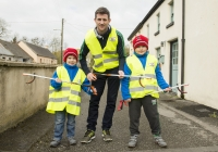 03.04.15  NO REPRO FEE Paul O'Connell, AP McCoy and JP McManus kick-start the Team Limerick Clean-Up (TLC). Over 10,000 volunteers hit the streets of Limerick City and County for the country's biggest ever Clean-Up. Limerick senior hurler Donal O'Grady joined Team Limerick Clean-Up volunteers, brothers Jack Giltenane, aged 8, and Dara Giltenane, aged 5, from Ballingarry, Co. Limerick. Picture credit: Diarmuid Greene/Fusionshooters