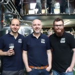 Pictured at the launch of the Treaty City Brewery in Limerick's Medieval Quarter are brewers Gustavo Bassini, Stephen Cunneen and Gabriel Silveira. Picture: Orla McLaughlin/ilovelimerick.
