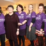 Members of the ADAPT Domestic Abuse Services, Deirdre Barrett, Ingrid Wallace, Jess Angland, Lorraine Gallagher, Siobhan O'Malley and Lucia Frunza at the coffee morning in the Green Yard Cafe to raise funds and awareness on domestic abuse. February 14, 2018.