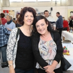 Pictured at the VTOS Limerick 2019 Art, Craft & Design Open Day in the Further Education & Training Centre are LSAD student Ann O'Mahony, Raheen, and previous student Caroline Dunne, Ballincurra Weston. Picture: Conor Owens/ilovelimerick.