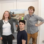 Pictured at the VTOS Limerick 2019 Art, Craft & Design Open Day in the Further Education & Training Centre are Maria Tuttle, Learning Technology Support Officer at VTOS, student PJ Enright, Carew Park and student Lorcan Heffernan, Ennis. Picture: Conor Owens/ilovelimerick.