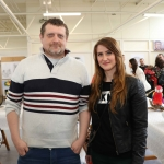 Pictured at the VTOS Limerick 2019 Art, Craft & Design Open Day in the Further Education & Training Centre are students Alexandr Limanovich and Ludmila Sevjahova from Castletroy. Picture: Conor Owens/ilovelimerick.