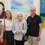 Pictured at the VTOS Limerick 2019 Art, Craft & Design Open Day in the Further Education & Training Centre are Anna Talty, Anne Talty and Jack Talty from Raheen, Cork. Picture: Conor Owens/ilovelimerick.