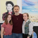Pictured at the VTOS Limerick 2019 Art, Craft & Design Open Day in the Further Education & Training Centre are Sinead Fitzgibbon, Intern at ilovelimerick.com, RathkealeRichard Lynch, Founder of ilovelimerick.com, and Chloe Reidy, Intern at iovelimerick.com, Charleville, Cork. Picture: Conor Owens/ilovelimerick.