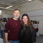 Pictured at the VTOS Limerick 2019 Art, Craft & Design Open Day in the Further Education & Training Centre are Richard Lynch, founder of ilovelimerick.com and Jayne Foley, Art Craft Design Course Leader at VTOS Kilmallock Road Campus. Picture: Conor Owens/ilovelimerick.