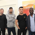 Pictured at the VTOS Limerick 2019 Art, Craft & Design Open Day in the Further Education & Training Centre are students Nori Mohammed, Henry Street, Khair Mahamad, Mungret Street, Ezat Niazai, Mungret Street, and Avudu Anthony, Dock Road. Picture: Conor Owens/ilovelimerick.