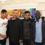 Pictured at the VTOS Limerick 2019 Art, Craft & Design Open Day in the Further Education & Training Centre are students Khaled Alibrahim, South Circular Road, Nori Mohammed, Henry Street, Mustafa Alibrahim, South Circular Road, and Avudu Anthony, Dock Road. Picture: Conor Owens/ilovelimerick.