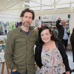 Pictured at the VTOS Limerick 2019 Art, Craft & Design Open Day in the Further Education & Training Centre are Colm Galvin, teacher at VTOS and Caroline Dunn, Enniskillen. Picture: Conor Owens/ilovelimerick.