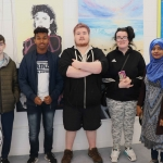 Pictured at the VTOS Limerick 2019 Art, Craft & Design Open Day in the Further Education & Training Centre are Evan Reddan, Masud Sharif, Stephen Hayes, Amy Sheehan, and Jannatul Ferdous from Limerick Youth Service. Picture: Conor Owens/ilovelimerick.