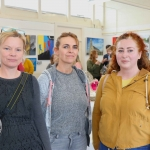 Pictured at the VTOS Limerick 2019 Art, Craft & Design Open Day in the Further Education & Training Centre Claire Gilmore, photography teacher at VTOS, Karen Fitzgibbon, VTOS Drama tutor, and Siobhán O'Malley, Murroe. Picture: Conor Owens/ilovelimerick.