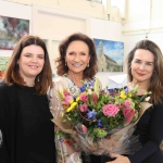 Pictured at the VTOS 2019 open day are Jayne Foley, art teacher, style queen Celia holman Lee and Patricia Kennedy, VTOS Co-ordinator. Picture: Conor Owens/ilovelimerick.