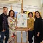 Pictured at the VTOS 2019 open day are Richard Lynch, founder of ilovelimerick.com, style queen Celia Holman Lee, Katrina Handley from Cappamore and Jayne Foley, art teacher. Picture: Conor Owens/ilovelimerick.