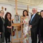Pictured at the VTOS 2019 open day are Trina Lynch, Further Education Training Manager, Jackie Dly, Assistant Staff Officer, style queen Celia Holman Lee, Paul Patton, Director of FEAT, and Jayne Foley, art teacher. Picture: Conor Owens/ilovelimerick.