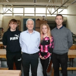 Pictured at the VTOS 2019 open day are Jeffrey Dore from Curragh, Pat McInerney, Guidance counsillor, Shyree Bouy from Ballynanty, and Chris Doyle, Woodwork teacher. Picture: Conor Owens/ilovelimerick.