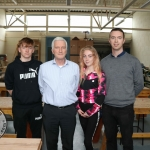 Pictured at the VTOS 2019 open day are Jeffrey Dore, Curragh, Pat McInerney, VTOS guidance councillor, Shyree Bouy, Ballynanty, and Chris Doyle, Woodwork teacher. Picture: Conor Owens/ilovelimerick.